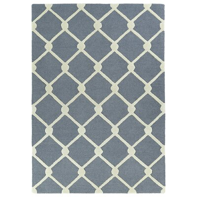 Cogar Handmade Gray Area Rug Rug Size: Rectangle 5 x 7