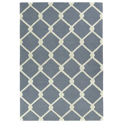 Cogar Handmade Gray Area Rug Rug Size: 5 x 7