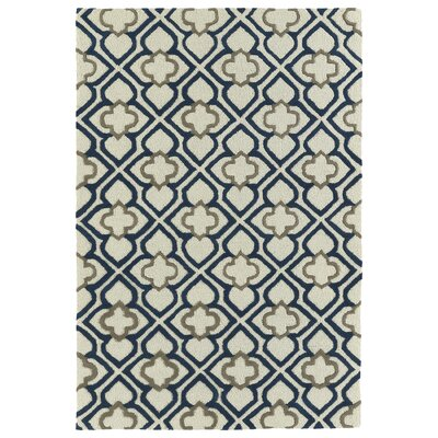 Cogar Handmade Navy Area Rug Rug Size: Rectangle 2 x 3