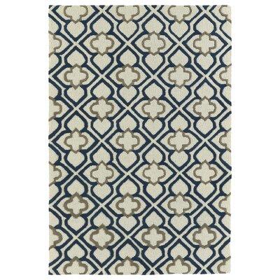 Cogar Handmade Navy Area Rug Rug Size: 5 x 7