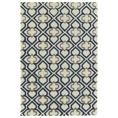 Cogar Handmade Navy Area Rug Rug Size: 8 x 10