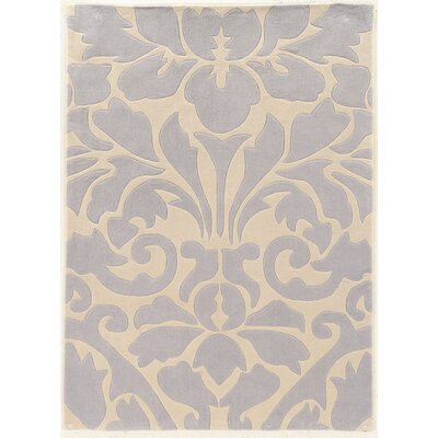 Coggins Hand-Tufted Gray Area Rug Rug Size: Rectangle 110 x 210
