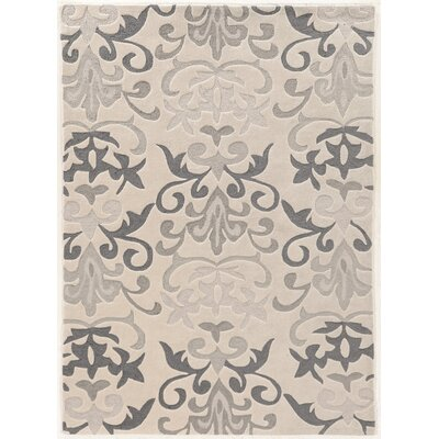 Coggins Hand-Tufted Ivory Area Rug Rug Size: Rectangle 110 x 210