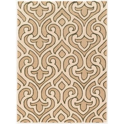 Coggins Hand-Tufted Ivory Area Rug Rug Size: Rectangle 5 x 7