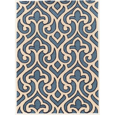 Coggins Hand-Tufted Blue Area Rug Rug Size: Rectangle 5 x 7