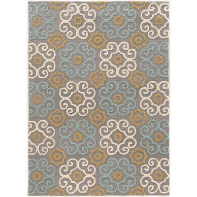 Coggins Hand-Tufted Gray Area Rug Rug Size: 110 x 210
