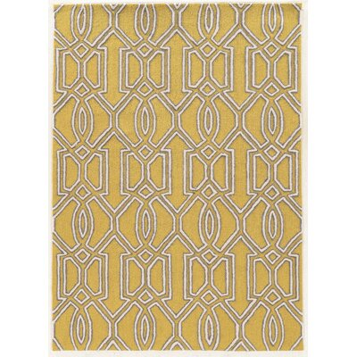 Coggins Cream/Yellow Area Rug Rug Size: 5 x 7