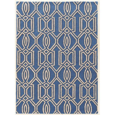 Coggins Hand-Tufted Blue Area Rug Rug Size: Rectangle 110 x 210