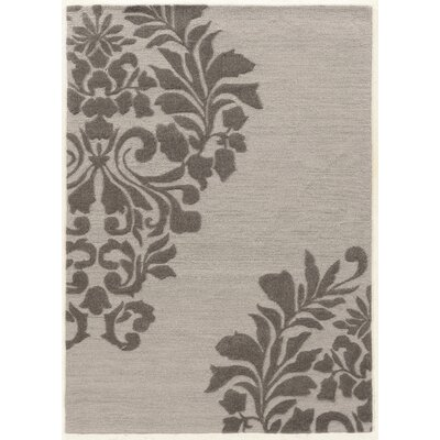 Coggins Hand-Tufted Gray Area Rug Rug Size: 5 x 7
