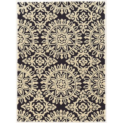 Coggins Hand-Tufted Navy/Cream Area Rug Rug Size: 110 x 210