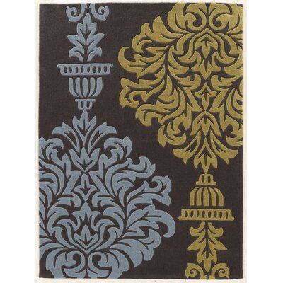 Coggins Hand-Tufted Gray Area Rug Rug Size: Rectangle 5 x 7
