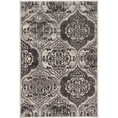Claflin Ivory/Gray Area Rug Rug Size: Rectangle 5 x 76