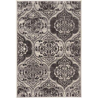 Claflin Ivory/Gray Area Rug Rug Size: 9 x 12