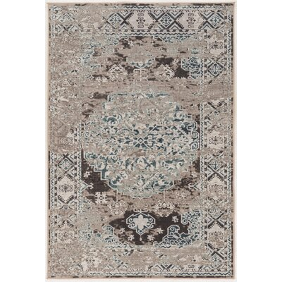 Clatterbuck Brown/Beige Area Rug Rug Size: Rectangle 5 x 76