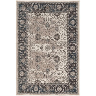 Coffield Beige/Gray Area Rug Rug Size: Rectangle 9 x 12