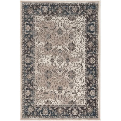 Coffield Beige/Gray Area Rug Rug Size: 9 x 12