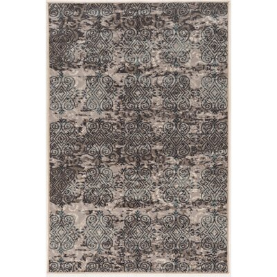 Coffman Beige/Gray Area Rug Rug Size: Rectangle 8 x 10
