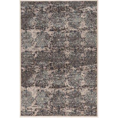 Coffman Beige/Gray Area Rug Rug Size: 9 x 12