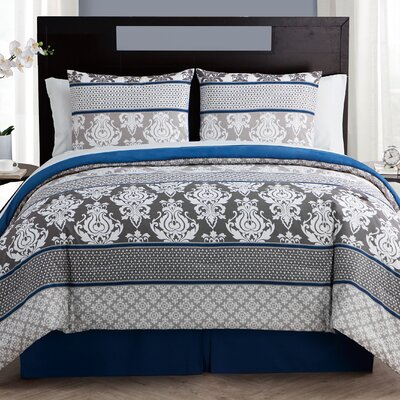Carterton 8 Piece Bed in a Bag Set Size: Queen