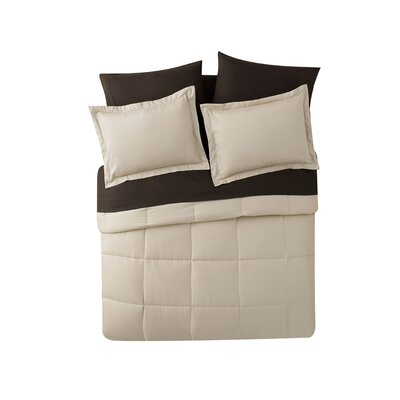 Casey 5 Piece Comforter Set Color: Taupe, Size: Twin XL