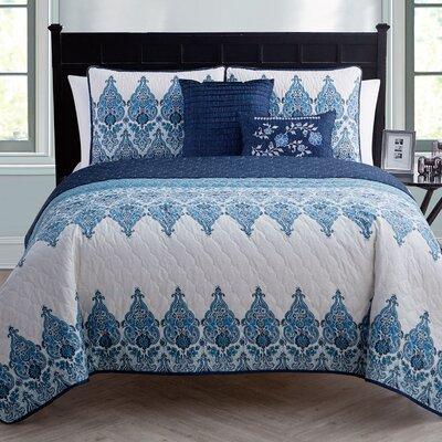 Carpentersville Quilt Set Color: Blue, Size: Full/Queen