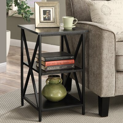 Abbottsmoor Square End Table FInish: Black