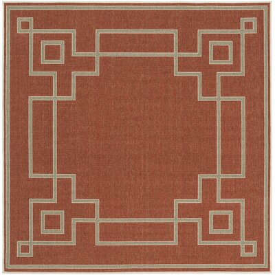 Minnie Cherry/Beige Indoor/Outdoor Area Rug Rug Size: Square 73