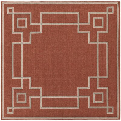 Minnie Cherry/Beige Indoor/Outdoor Area Rug Rug Size: Square 89