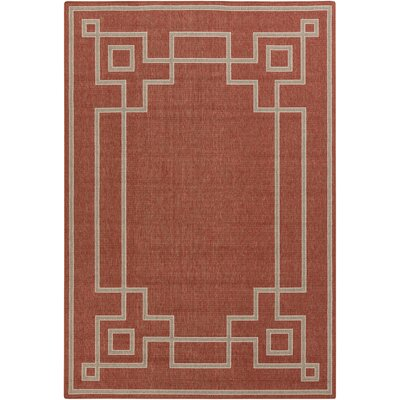 Minnie Cherry/Beige Indoor/Outdoor Area Rug Rug Size: 76 x 109