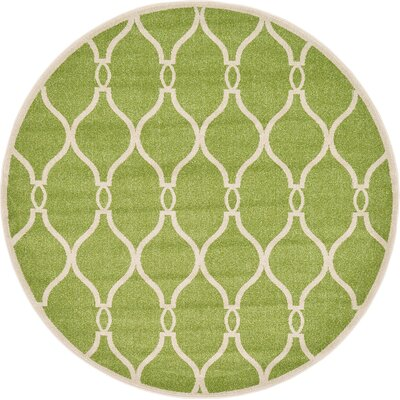 Conde Green Area Rug Rug Size: Round 6