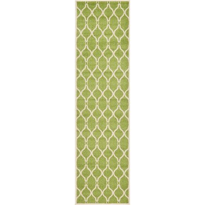 Conde Green Area Rug Rug Size: Runner 27 x 10