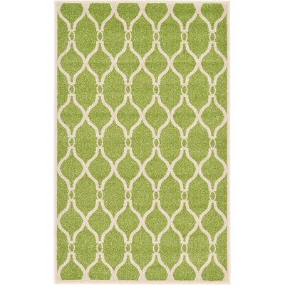 Conde Green Area Rug Rug Size: Rectangle 33 x 53