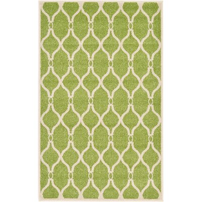 Conde Green Area Rug Rug Size: 33 x 53