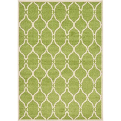 Conde Green Area Rug Rug Size: 7 x 10