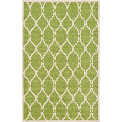 Conde Green Area Rug Rug Size: 5 x 8