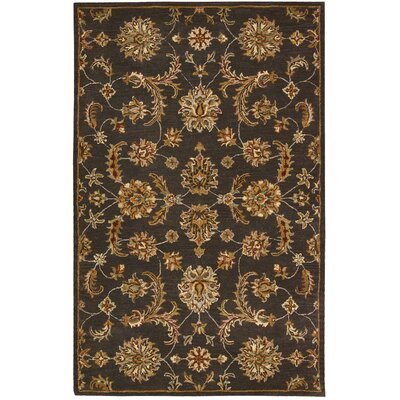 Cortese Handmade Charcoal/Brown Area Rug Rug Size: 36 x 56