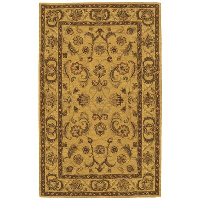Cortese Gold/Brown Area Rug Rug Size: 36 x 56