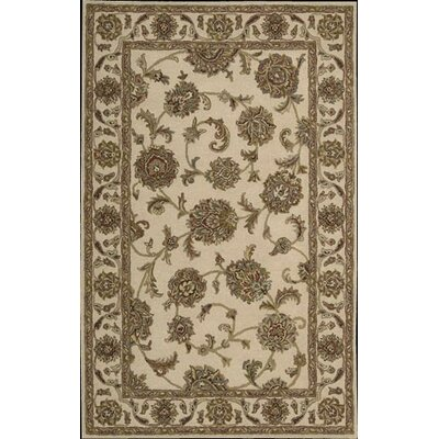Cortese Hand-Woven Ivory/Brown Area Rug Rug Size: Rectangle 26 x 4