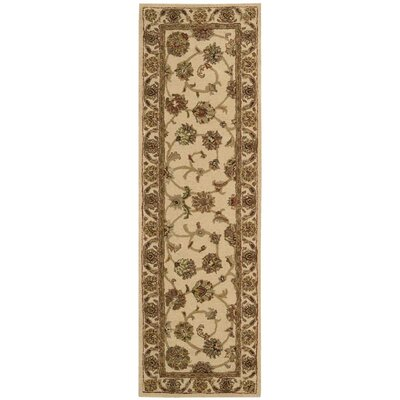 Cortese Hand-Woven Ivory/Brown Area Rug Rug Size: Runner 23 x 76
