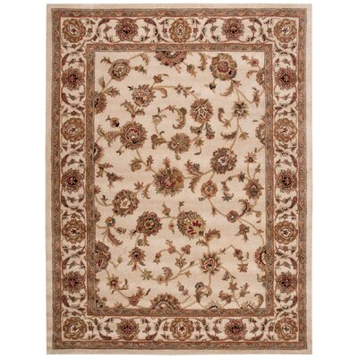 Cortese Hand-Woven Ivory/Brown Area Rug Rug Size: 8 x 106