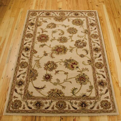 Cortese Hand-Woven Ivory/Brown Area Rug Rug Size: Rectangle 36 x 56