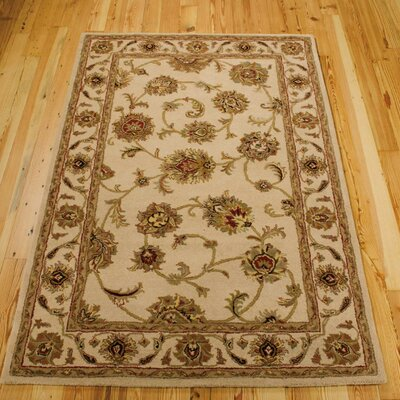 Cortese Hand-Woven Ivory/Brown Area Rug Rug Size: Rectangle 5 x 8