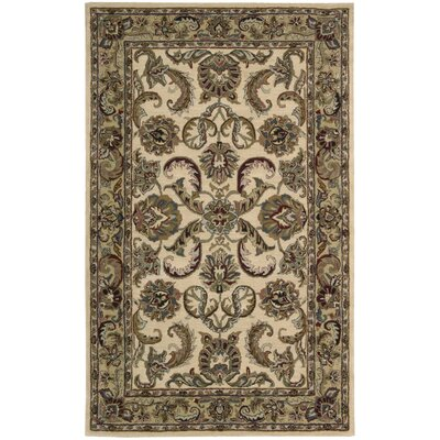 Cortese Ivory/Gold Area Rug Rug Size: Rectangle 36 x 56