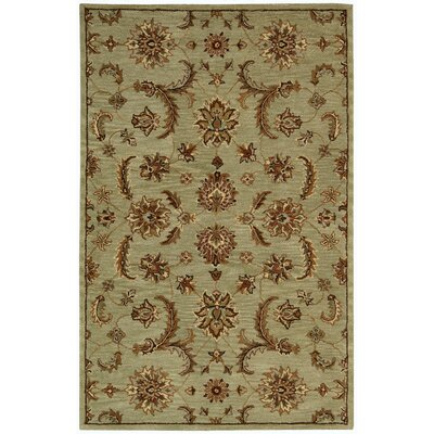 Cortese Handmade Light Green/Brown Area Rug Rug Size: Rectangle 8 x 106