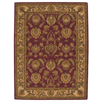 Cortese Red Area Rug Rug Size: 36 x 56