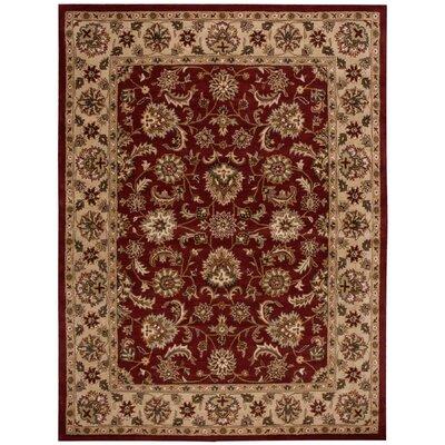 Cortese Red Area Rug Rug Size: 5 x 8