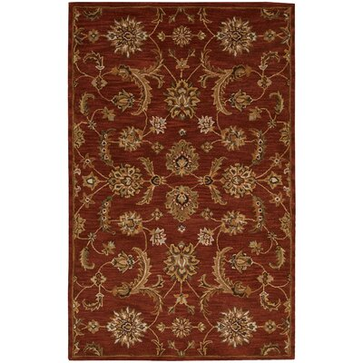Cortese  Hand-Woven Red/Brown Area Rug Rug Size: Rectangle 36 x 56