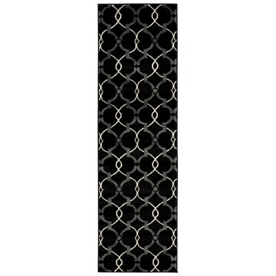 Coulston Black/White Area Rug
