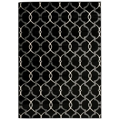 Coulston Black/White Area Rug Rug Size: 311 x 53