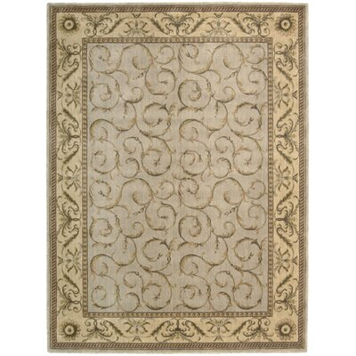 Merton Hand-Woven Beige/Gray Area Rug Rug Size: Rectangle 56 x 75